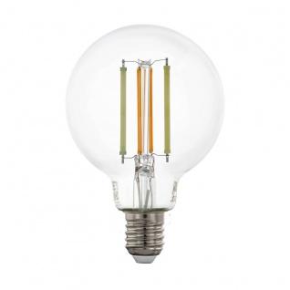EGLO Connect LED Leuchtmittel E27 G80 6W 806lm 2200-6500K 320° klar App Steuerbar 80x120mm