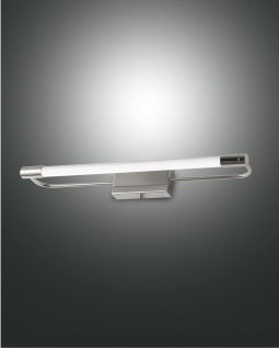 LED Spiegellampe chrom satiniert Fabas Luce Rapallo 1100lm IP44