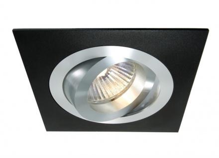 Deko Light Einbaustrahler schwarz, silber 1 flg. GU5, 3 / MR16 Modern