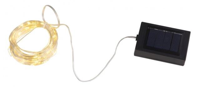 Solar Lichterkette IP44 120 LED alle 10cm auf 134cm von Globo