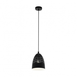 EGLO CAMASTRA Hängeleuchte schwarz, weiß E27 19x110cm dimmbar