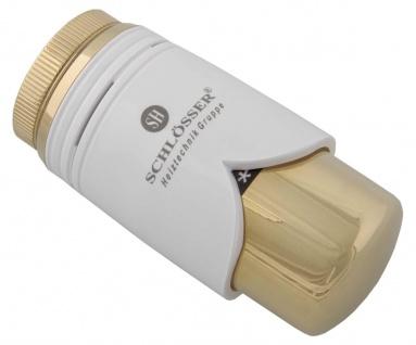 Schlösser Thermostatkopf Brilliant M30 x 1, 5 Heimeier weiß/gold 6002 00008