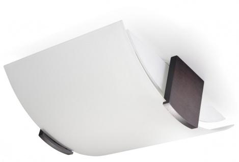 Sollux EMILIO moderne Deckenlampe weiss, wenge 2-flg. E27