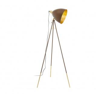 Stehlampe Vintage EGLO CHESTER 1 rostfarben, gold E27
