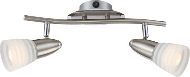 Globo CALEB Strahler Chrom Nickel matt, 2xE14 LED