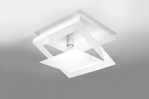 Sollux NAZARIA moderne Deckenlampe eckig weiss 1-flg. E27