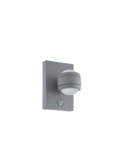 EGLO LED SESIMBA 1 Außen Wandleuchte IP44 silber Bewegung - Dämmerung