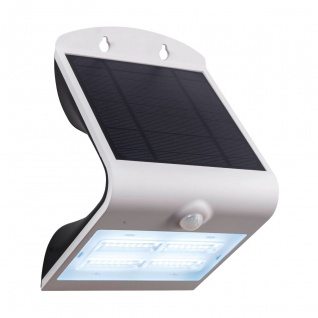EGLO LAMOZZO LED Solarleuchte Wand weiß 440lm IP44 14x21cm Bewegungs. u. Dämmerungsschalter