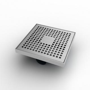 MERT Design Bodenablauf Quadrat Kare 200 x 200 mm Edelstahl