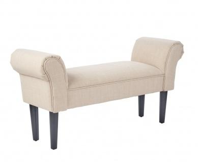 bhp Sitzbank, Stoff Polyester, beige HE282-3, Holzfüße schwarz
