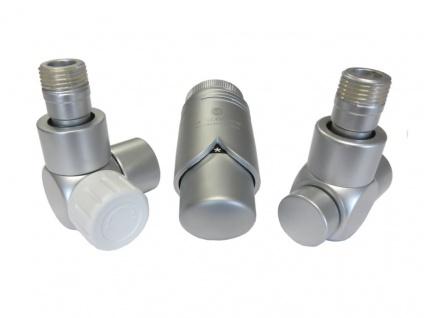 Schlösser Edelarmaturen Set Eckform 15 x 1 für Kupfer-Rohr, silber satiniert