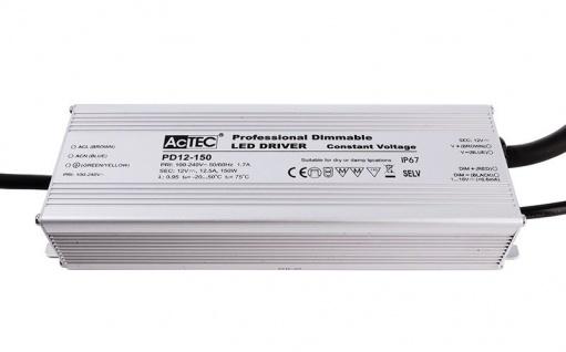 Deko Light PD12-150-1-10V Netzgerät silber IP67