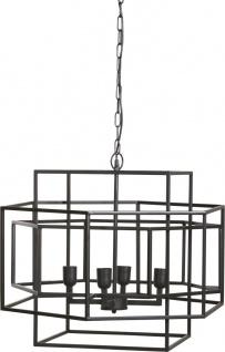 Pendelleuchte schwarz aus Metall PR Home Rod 56x68cm 4x E27