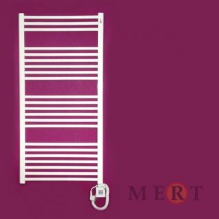 MERT Elektro Standard Badheizkörper Gerade 400 x 1200 mm incl. Regler und Heizpatrone