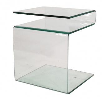 bhp Beistelltisch 10mm klares formgebogenes Glas