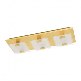 EGLO VICARO 1 LED Deckenleuchte gold, weiss 3-flg.