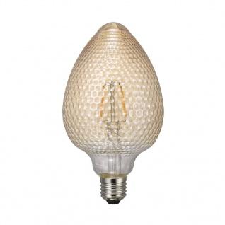 Nordlux Avra BL Nut E27 LED Leuchtmittel 1, 5W 120lm 2000K Ra 80 360° Amber Filament