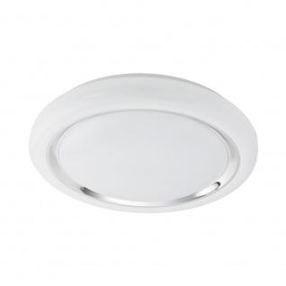 EGLO CAPASSO LED Deckenleuchte Ø400, 1-flg., weiss, chrom