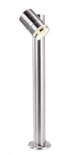 Deko Light Zilly II Sockelleuchte für Außen silber IP44 1 flg. GU10 Modern