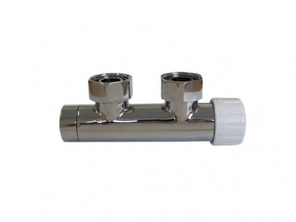 Schlösser Duo-Plex Design Mittelanschluss Ventil Eckform links chrom 6020 00004