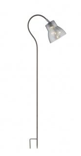 LED Solarlampe Erdspieß mit rauch Glas Schirm 1065mm von Globo