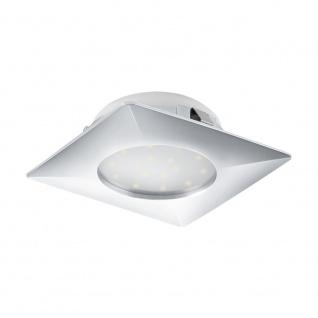 LED Einbauspot EGLO PINEDA 102x102mm chrom