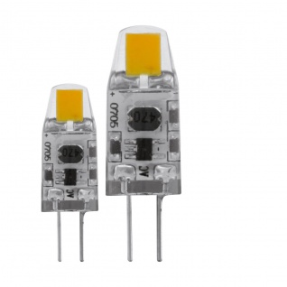 EGLO G4 LED Leuchtmittel 2er VE 1, 2W 12V 100lm 2700K dimmbar