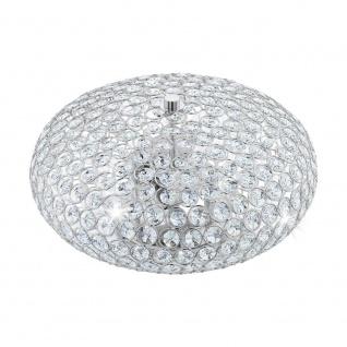 EGLO CLEMENTE Kristall Deckenleuchte Ø350, 2-flg., E27, chrom, klar