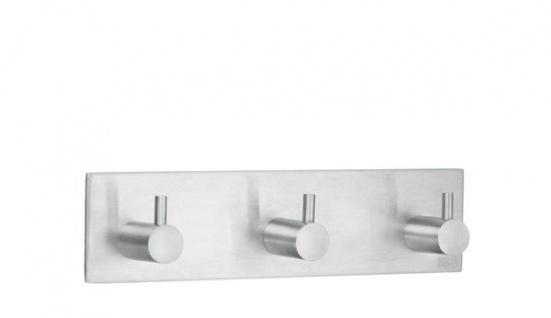 Smedbo Design 3-Fach Hakenleiste Edelstahl gebürstet B1107