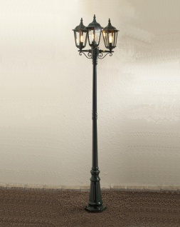 KONSTSMIDE Firenze Grüne Standleuchte mit 3 Leuchtenköpfen