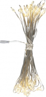Globo VENUTO Lichterkette Kupfer Silber metallic, 50xLED