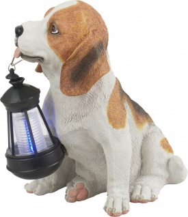 Globo SOLAR Solarleuchte Kunststoff Hund Braun, 1xLED