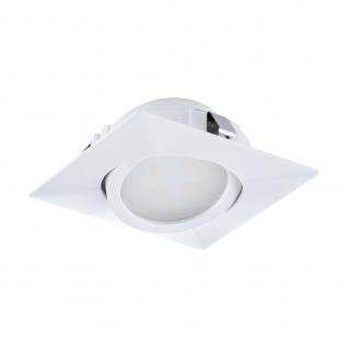 EGLO PINEDA LED Einbauspot 84x84, 1-flg., weiss