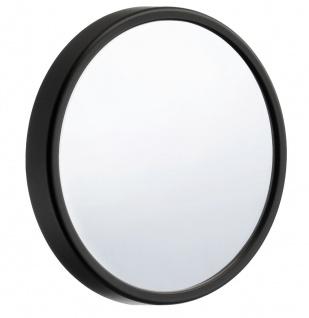 Smedbo Outline Lite Kosmetikspiegel 12-Fach mit Saugnapf aus Kunststoff schwarz 130mm FB622