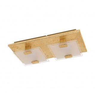 EGLO VICARO 1 LED Deckenleuchte gold, weiss 2-flg.