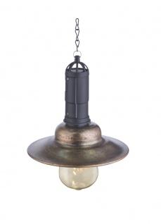 LED Solarlampe zum Aufhängen Industriedesign bronze 155mm von Globo
