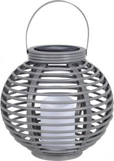 LED Solarlampe Laterne im Korbgeflecht design von Globo