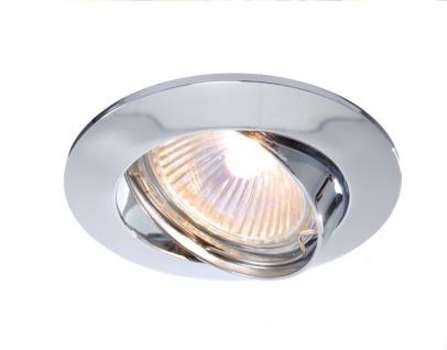 Deko Light Einbaustrahler silber 1 flg. GU5, 3 / MR16
