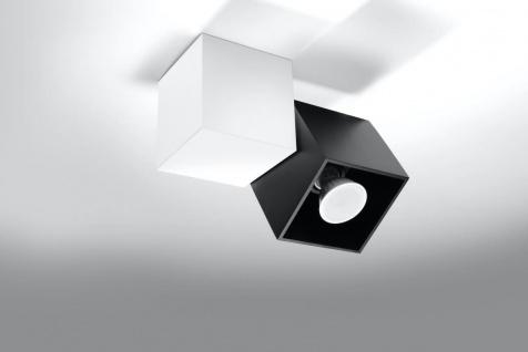 Sollux OPTIK Deckenlampe schwarz, weiss 1-flg. GU10