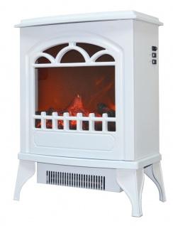 bhp Elektrokamin, Flamme/Hitze verstellbar, weiß, LED 3x1W 100lm, 2 Hitzestufen (850W/1900W), Eisen