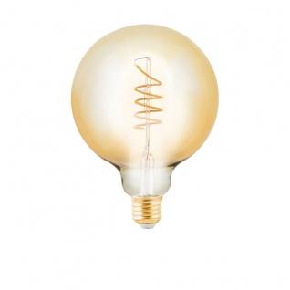 EGLO LED Leuchtmittel E27 G125 4W 245lm 2200K 320° amber dimmbar 125x170mm