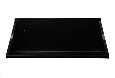 bhp Wandregal, MDF schwarz matt lackiert