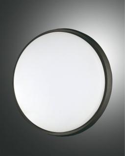 LED Deckenlampe außen schwarz Fabas Luce Olly 300mm 2800lm IP54