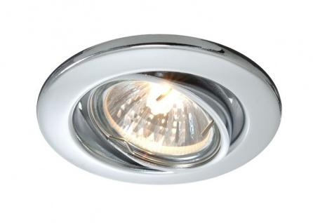 Deko Light Einbaustrahler silber 1 flg. GU5, 3 / MR16 Modern