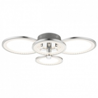 Wofi LED Deckenlampe SURREY nickel matt, chrom