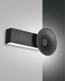 LED Wandleuchte schwarz Fabas Luce Aretha 900lm Bluetooth Lautsprecher