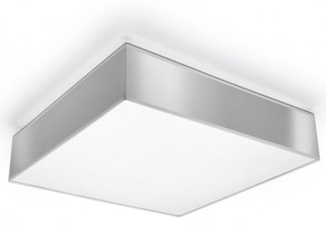 Sollux HORUS moderne Deckenlampe eckig silber 3-flg. E27