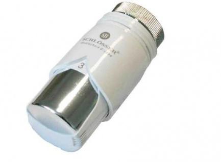 Schlösser Thermostatkopf Diamant Plus M28 x 1, 5 Comap weiß/chrom 6001 00013