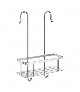 Smedbo Sideline Duschkorb für Duscharmaturen mit Bodenplatte im verchromten Messing DK3048