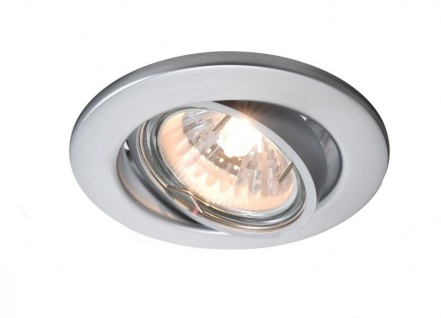 Deko Light Einbaustrahler silber-matt 1 flg. GU5, 3 / MR16 Modern